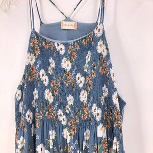 Like New Altard State blue floral maxi dress